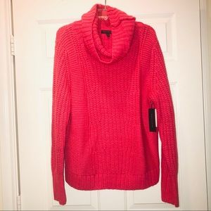 Banana Republic Pink Italian Yarn Cowl Sweater
